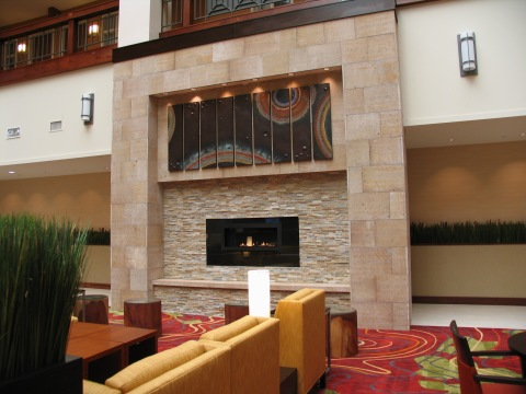 fireplace at minneapolis marriott northwest
